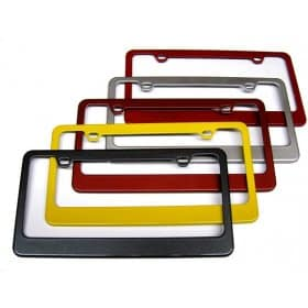C6 Corvette  Painted License Plate Frame