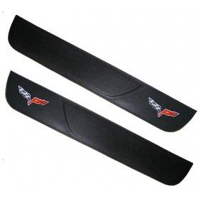 C6 Corvette  Leather Door Sill Protectors