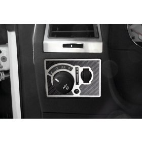 2008-2012 Dodge Challenger Carbon Fiber Light Control Trim Plate