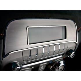 2010-2013 Camaro Radio Trim Plate Brushed/Polished Factory Radio