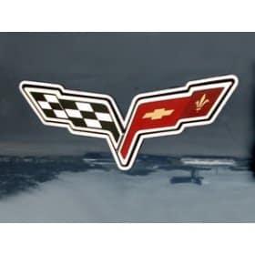 C6 Corvette Emblem Rings Polished 2Pc