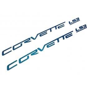 C6 Corvette Painted Fuel Rail Lettering Kit - Body Colors