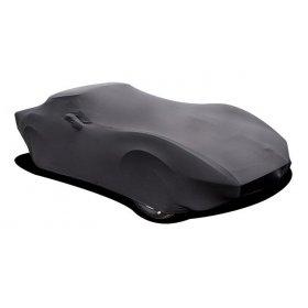 C3 Corvette Black Indoor Satin Stretch Car Cover