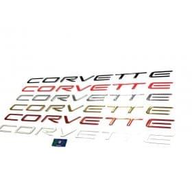 Corvette C5 Front Bumper Domed Lettering Letters Package