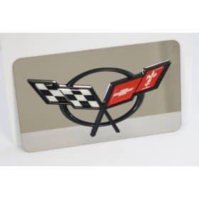 Corvette C5 Exhaust Plate w/C5 Logo