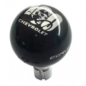 C6 Corvette Shift Knob With Chevrolet 100 Year Anniversary Logo on Top