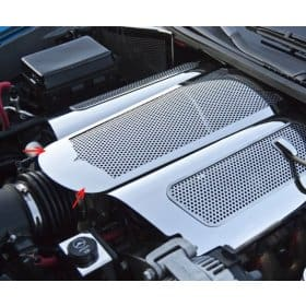 C6 Corvette  Polished Stainless Perforated Extended Plenum Cover