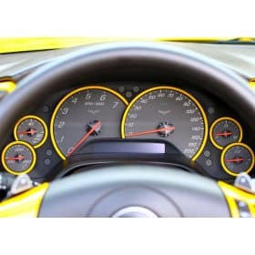 C6 Corvette Gauge Bezels Painted Body Colors