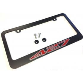 C6 Corvette Black License Plate Frame 427