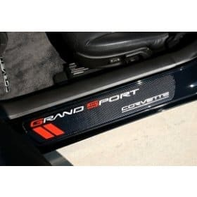 C6 Corvette  Grand Sport Door Sill Plates - Carbon Fiber