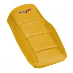C6 Corvette  Color Matched Console Cover Cushion Solid Color Accent Stitched w/Logo
