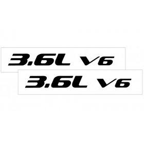 2010-2015 Camaro Hood Rise Decal Set 3.6L V6