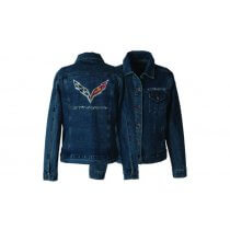 C7 Stingray Womens Rhinestone Denim Jacket