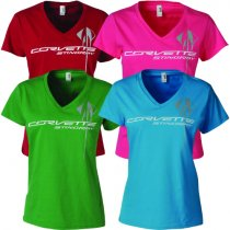 Corvette Stingray Ladies Triple Mark T-Shirt