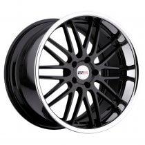 C7 Corvette Cray Hawk Gloss Black with Chrome Lip Wheel
