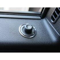 2010-2014 Ford F150/Raptor Mirror Control Trim Ring Polished