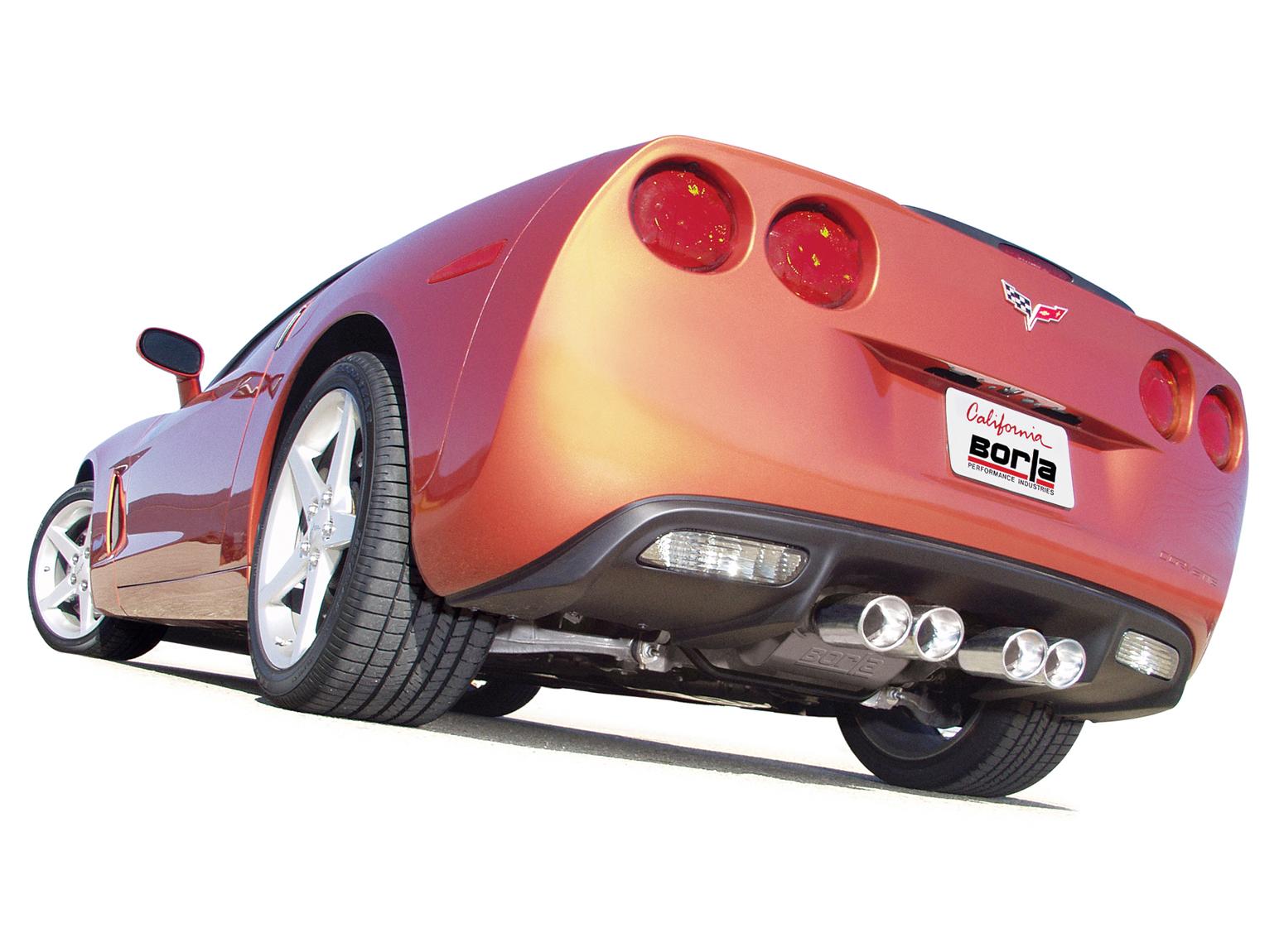 corvette exhaust system, corvette borla exhaust