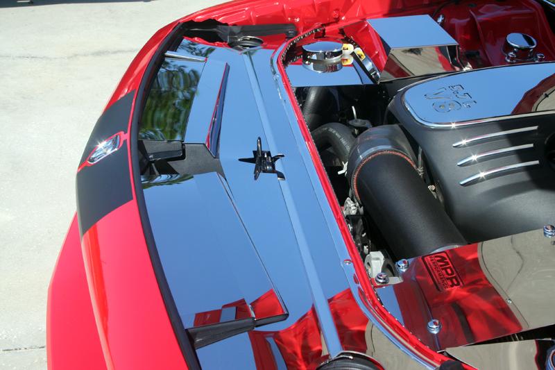 Dodge Challenger Stainless Steel Engine Header Plate Extension K