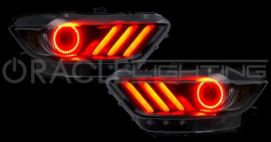 2015 2017 Ford Mustang Gt Shelby V6 Eco Boost Halo Led Headlight