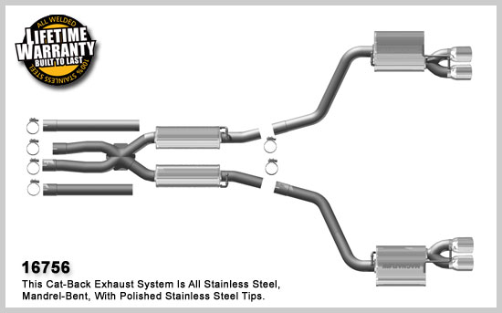 Street Series Performance Exhaust For The Challenger Rt Hemi By Magnaflow: 2014 Dodge Challenger Exhaust Systems At Woreks.co