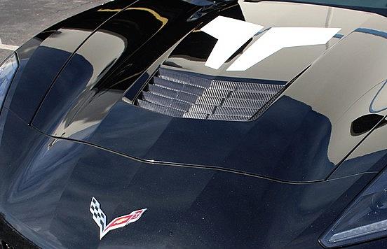 C7 Corvette Real Carbon Fiber Hood Vent Insert