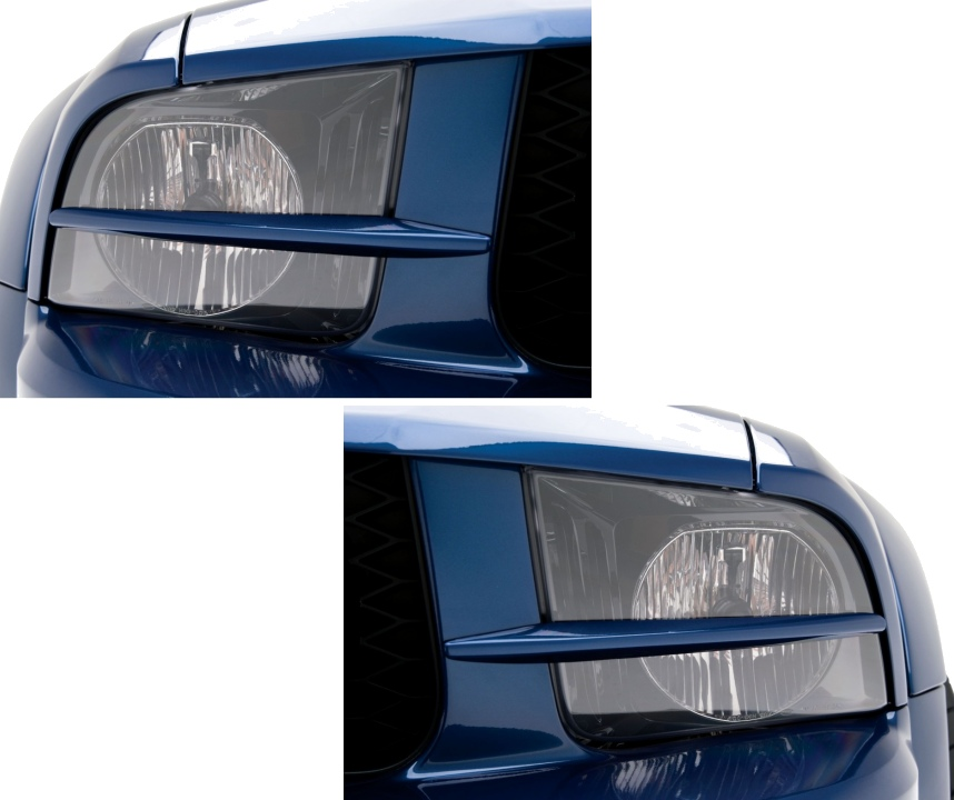 2005 2009 Ford Mustang Painted Headlight Splitters