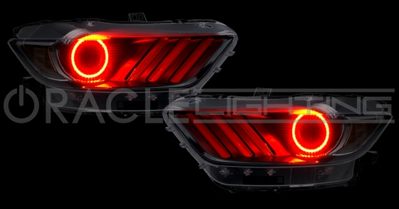 2015 2017 Ford Mustang Halo Led Headlight Rings Gt V6 Shelby Eco Boost