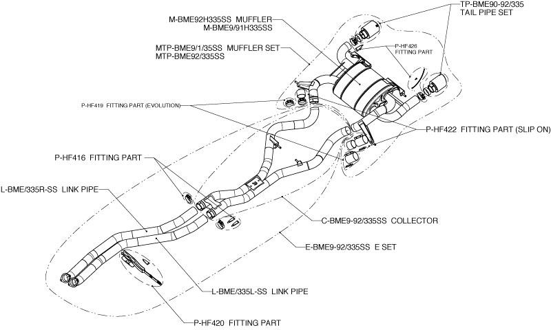 bmw 335i  e90  e91  e92  titanium evolution akrapovic