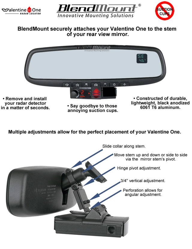 blendmount radar detector mount - Valentine One Mount
