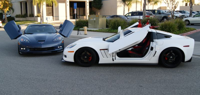 Corvette Zlr Doors Corvette Lambo Door Conversion Kit Southerncarparts Com