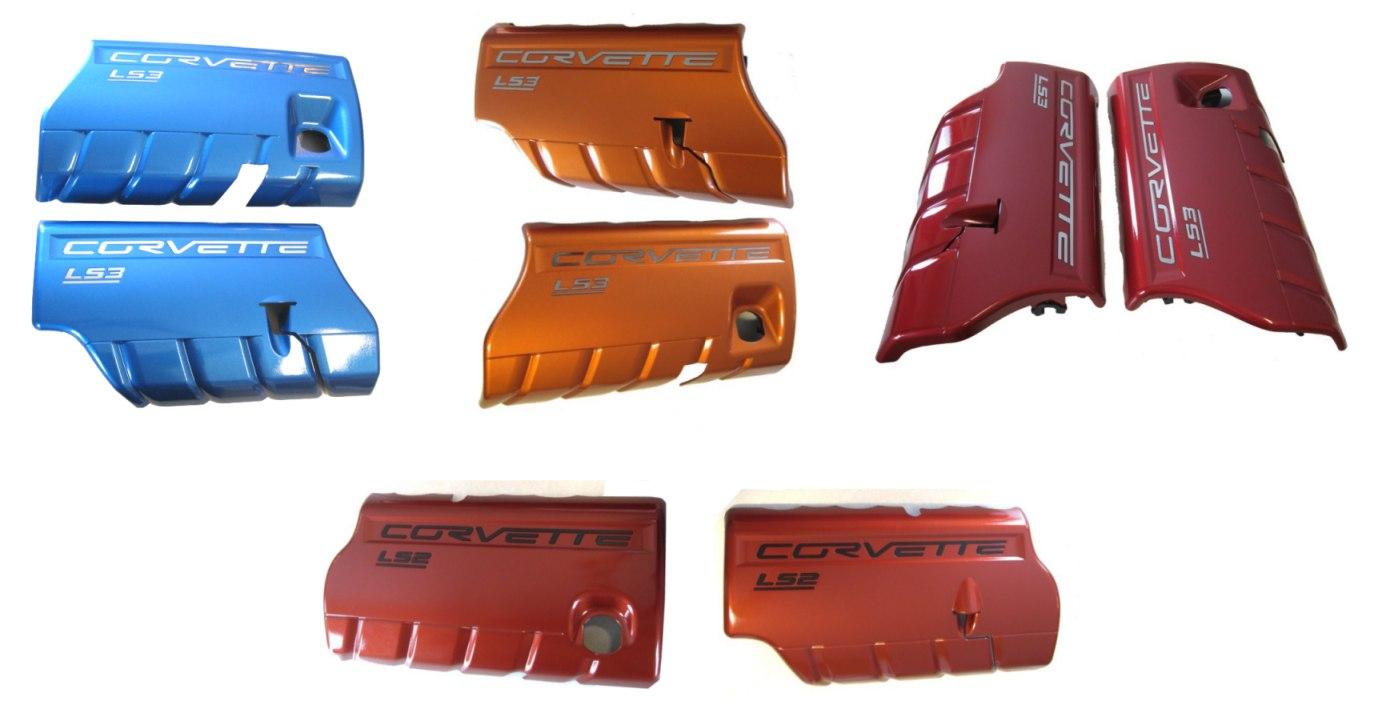 C6 Corvette LS3 Fuel Rail Covers