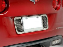 C6 Corvette  Laser Mesh Stainless Tag Plate