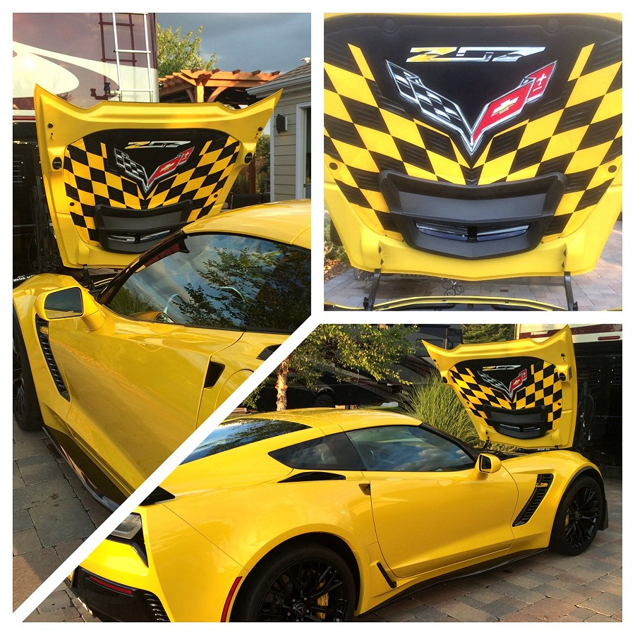 2015 2018 c7 corvette z06 custom airbrushed hood liner. Black Bedroom Furniture Sets. Home Design Ideas