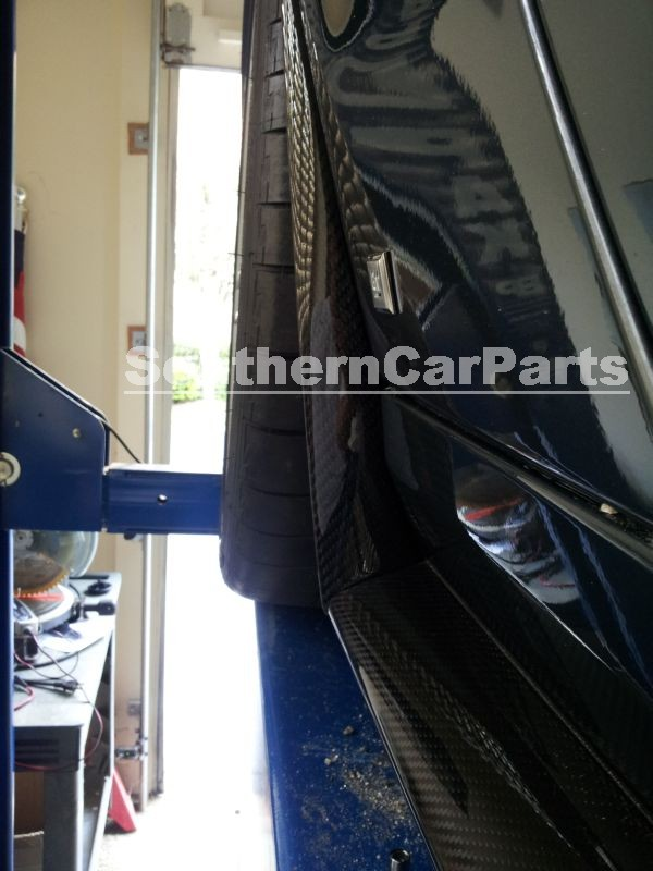 Corvette ZR1 Carbon Fiber Side Skirt Extensions