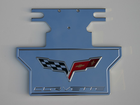 C6 Corvette Rear Exhaust Plate Engraved Style