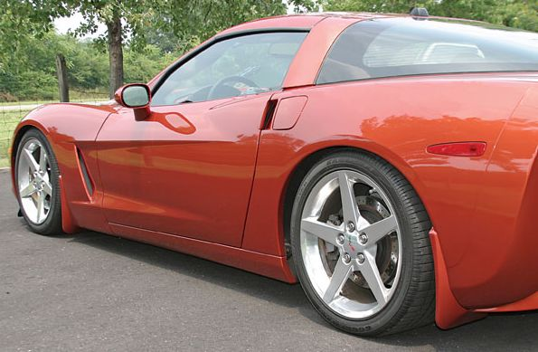 C6 Corvette  Altec Splash Guards