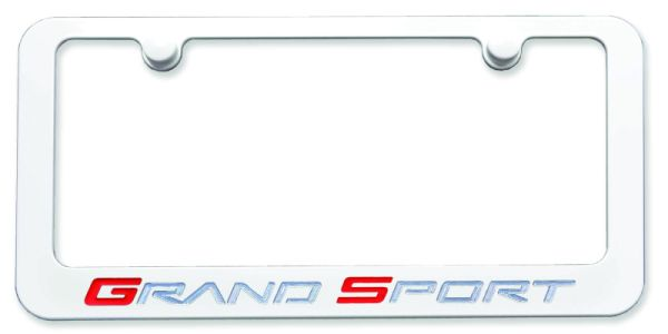 Corvette Grand Sport License Plate Frame