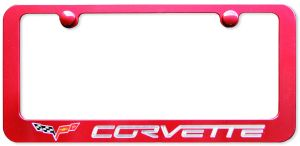 Corvette Color Matched License Plate Frame
