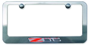 Z06 Painted License Plate Frame