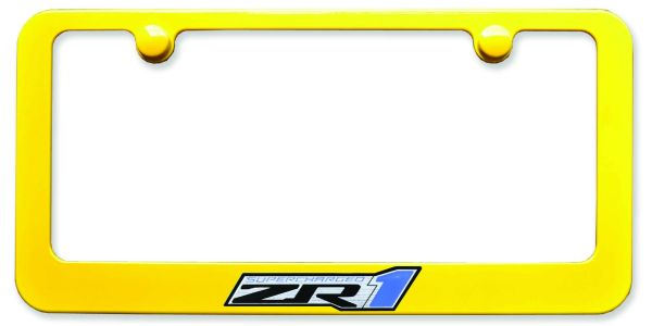 ZR1 Painted License Plate Frame