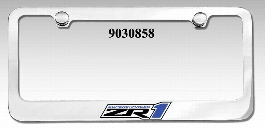 Corvette ZR1 Elite License Plate Frame
