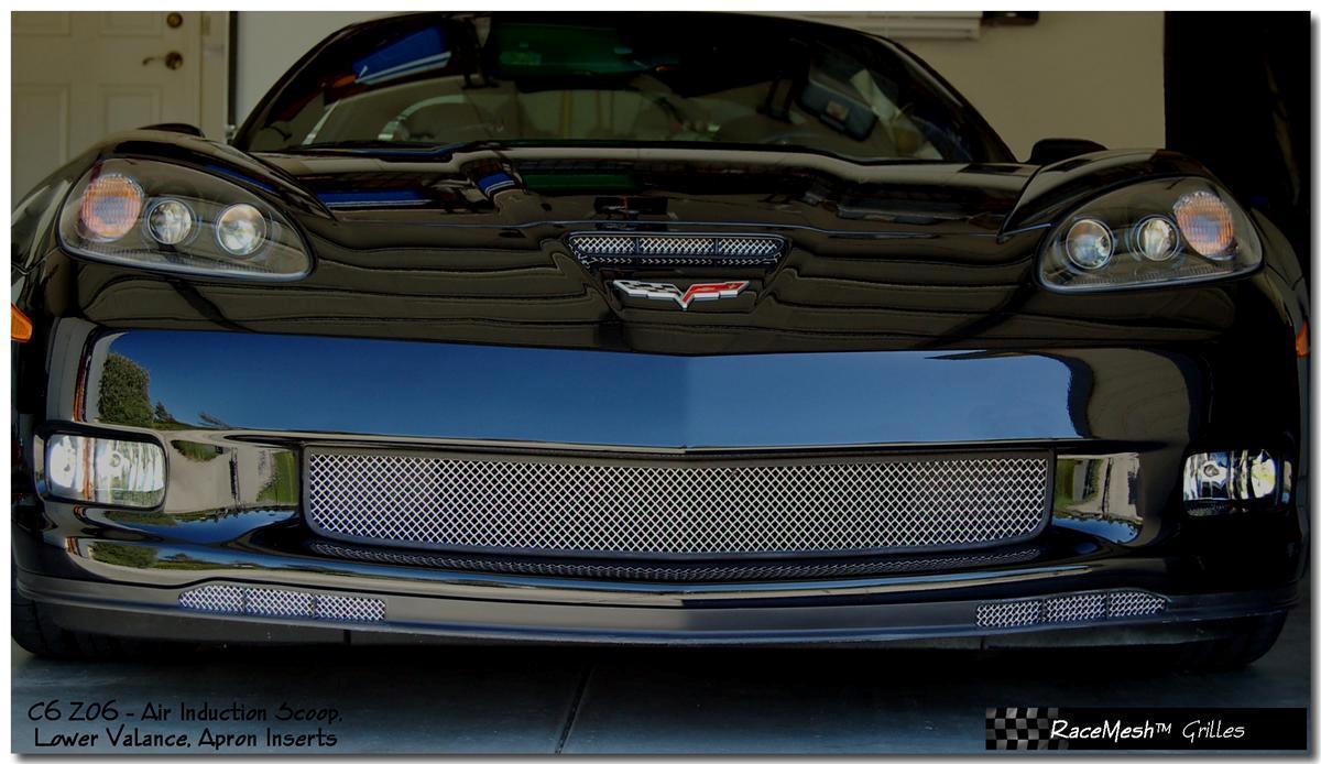 C6 Corvette Z06 Racemesh apron inserts, corvette parts