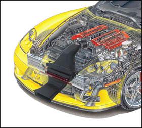 C6 Corvette vararam, C6 Corvette intake system, C6 Corvette cold air