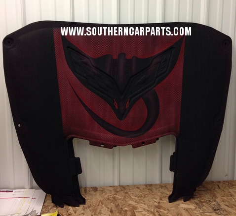 C7 Corvette Stingray Hood Liner Airbrushed Logo