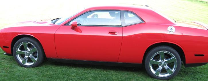 Dodge Challenger Side Marker Blackouts Lenses