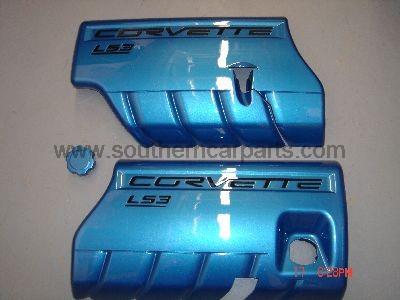 corvette painted fuel rail covers