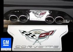 corvette exhuast plate, corvette parts