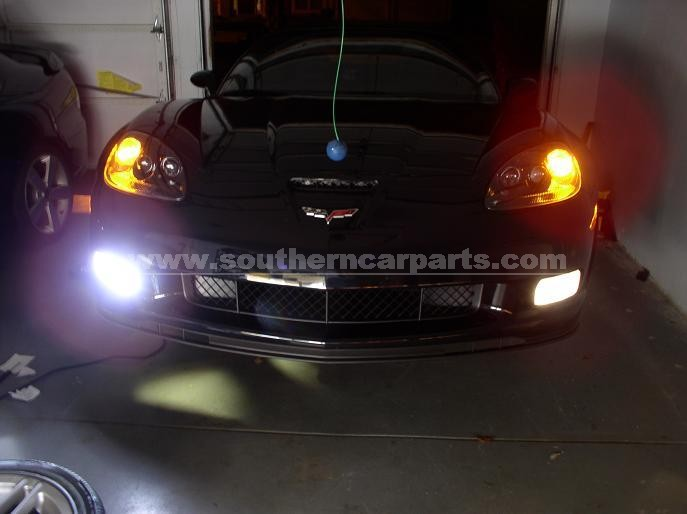 corvette hid fog lights