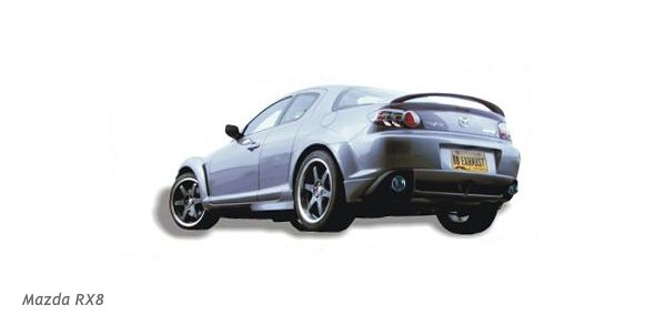 Mazda RX8 with Billy Boat performance exhaust installed