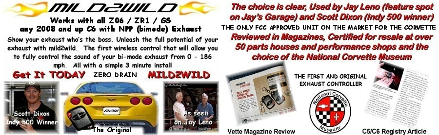 C6 Corvette Mild to Wild Exhaust On Demand Switch Mild2Wild